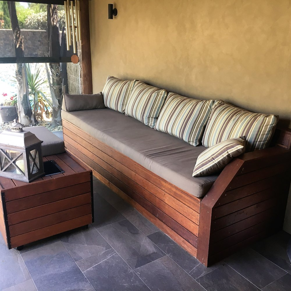 Outdoor Timber Seating and Decking
