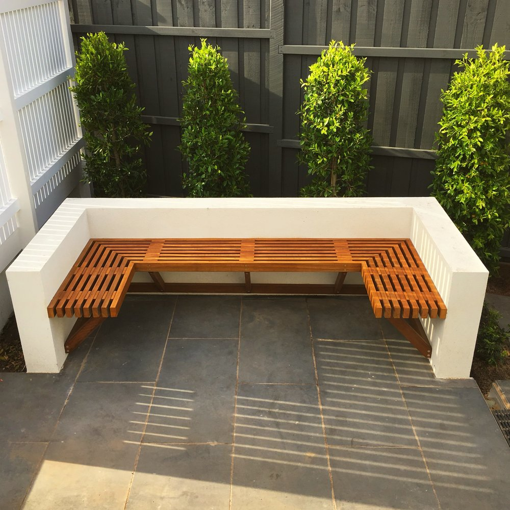 Custom outdoor seating