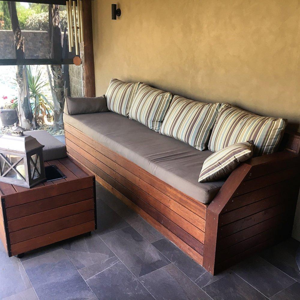 Custom Outdoor Merbau Seating