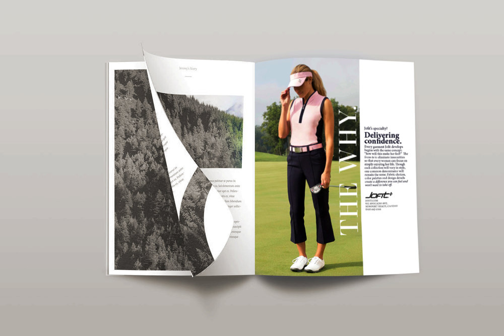 THE WHY. - A campaign I came up with to illustrate why women should try Jofit, placed in Newport Beach Lifestyle Magazine.