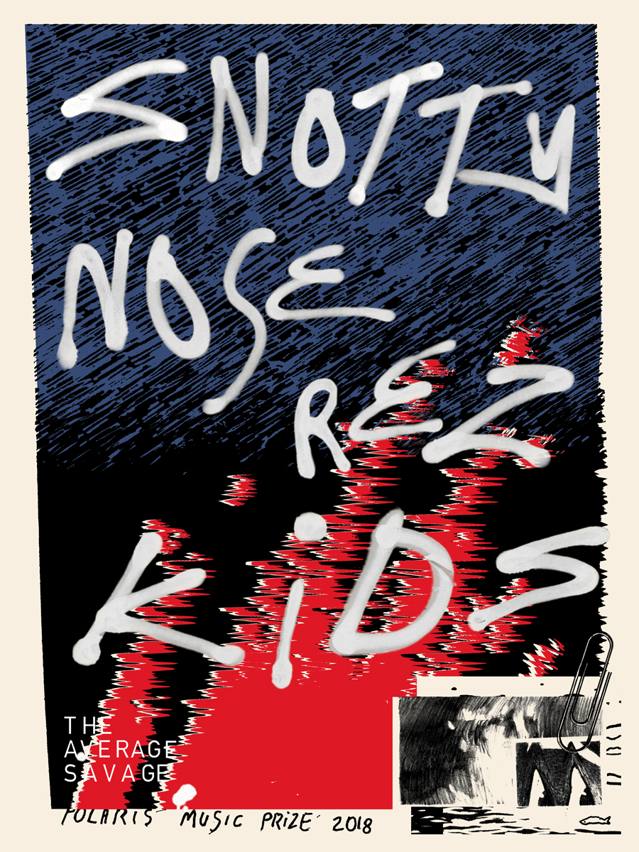 Snotty Nose Rez Kids  Poster for CBC's Polaris Music Prize Awards