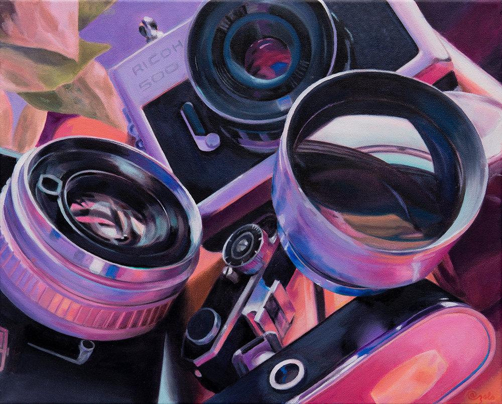 """Lenses  16x20"""" Oil on canvas 2019"""