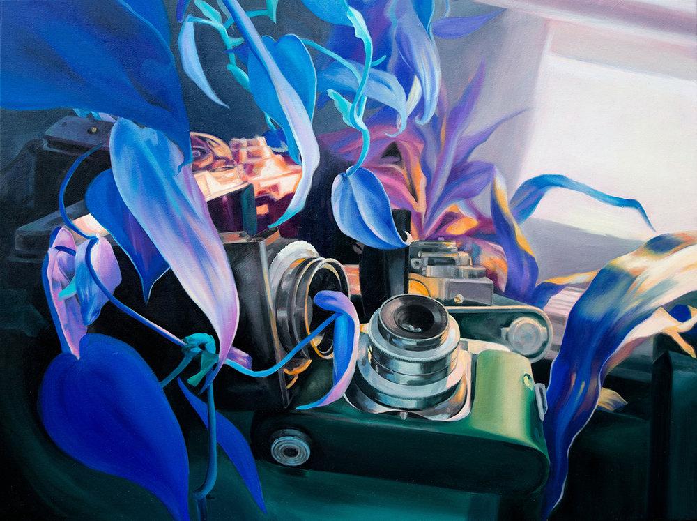 "Perception 1  30x40"" Oil on canvas 2018"