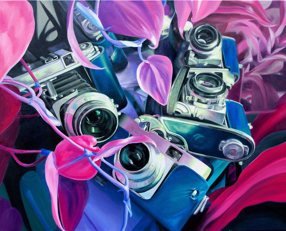 "Perception 2  24x30"" Oil on canvas 2018"