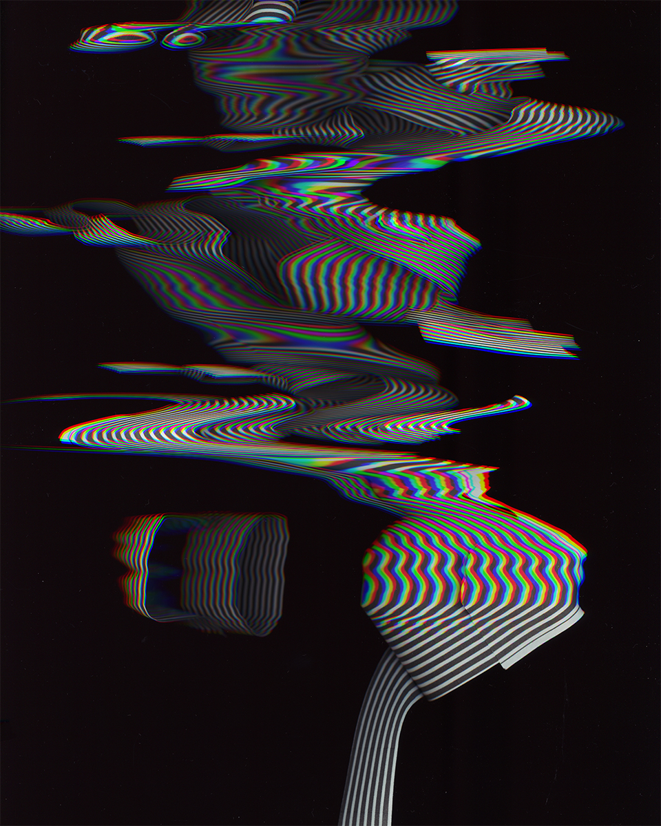 Paper Ribbon I  digital scan of paper form