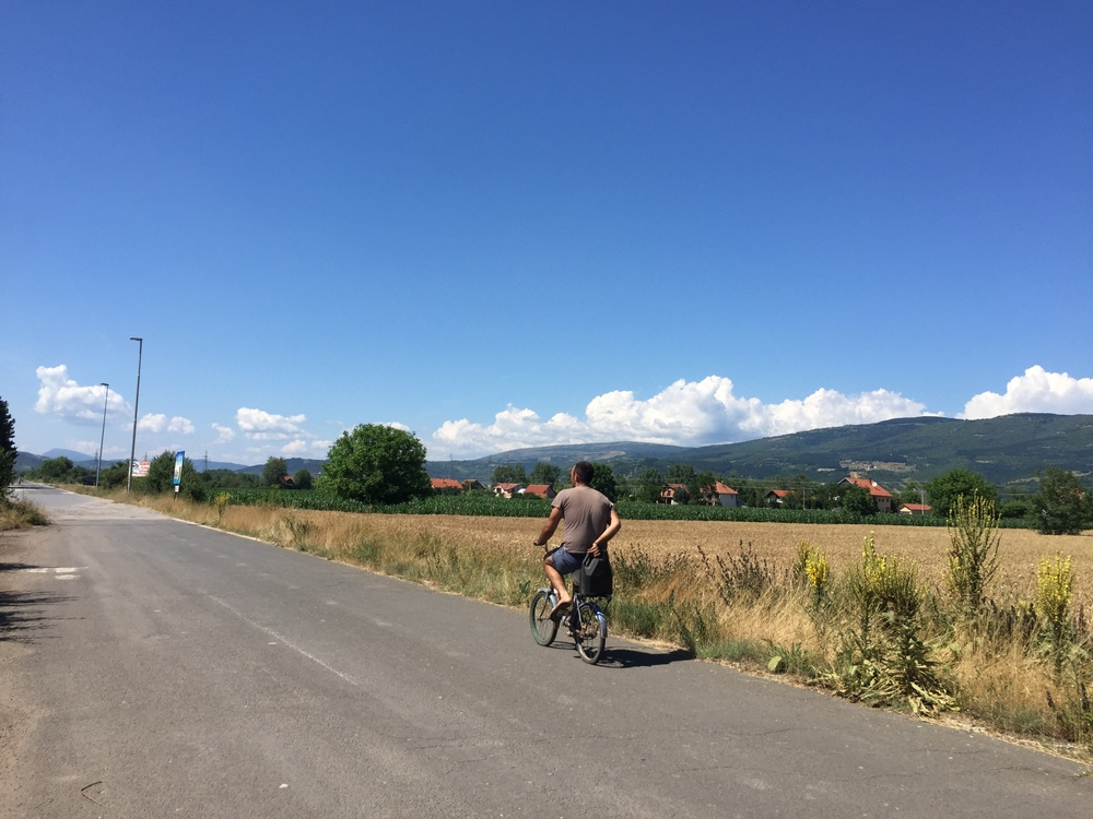The Road to Pirot in Serbia.