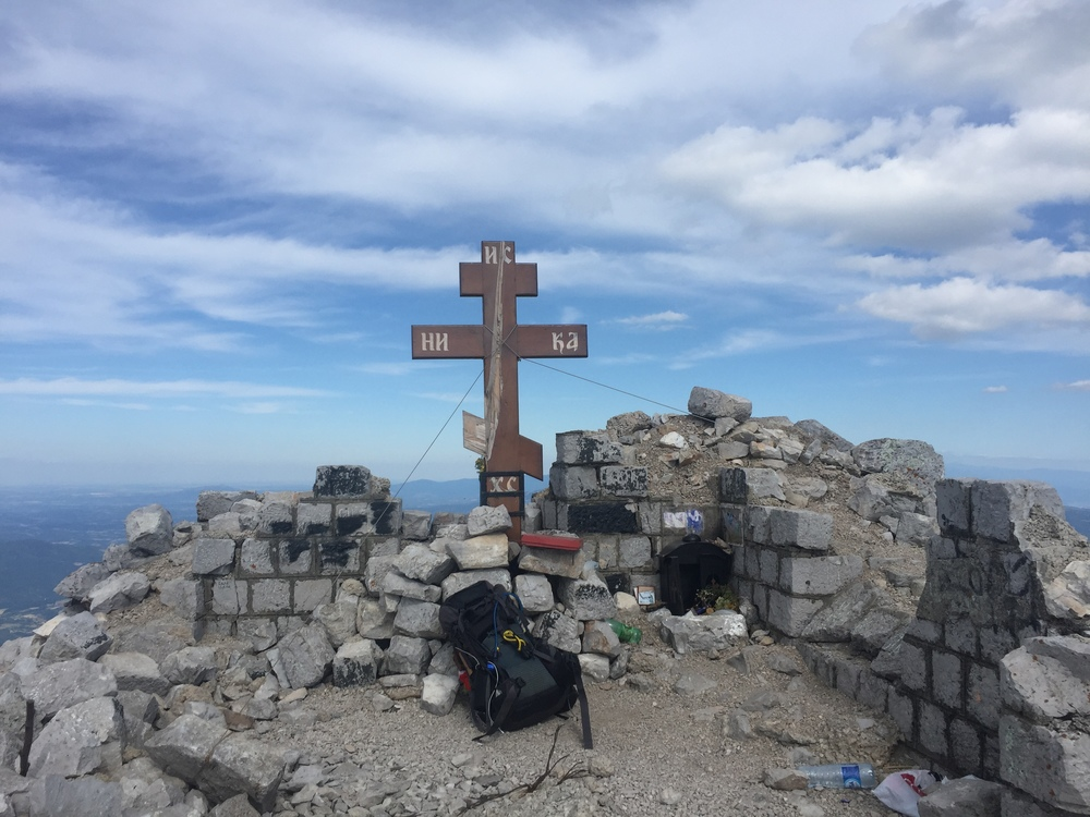 A shrine at the top of Rtanj.