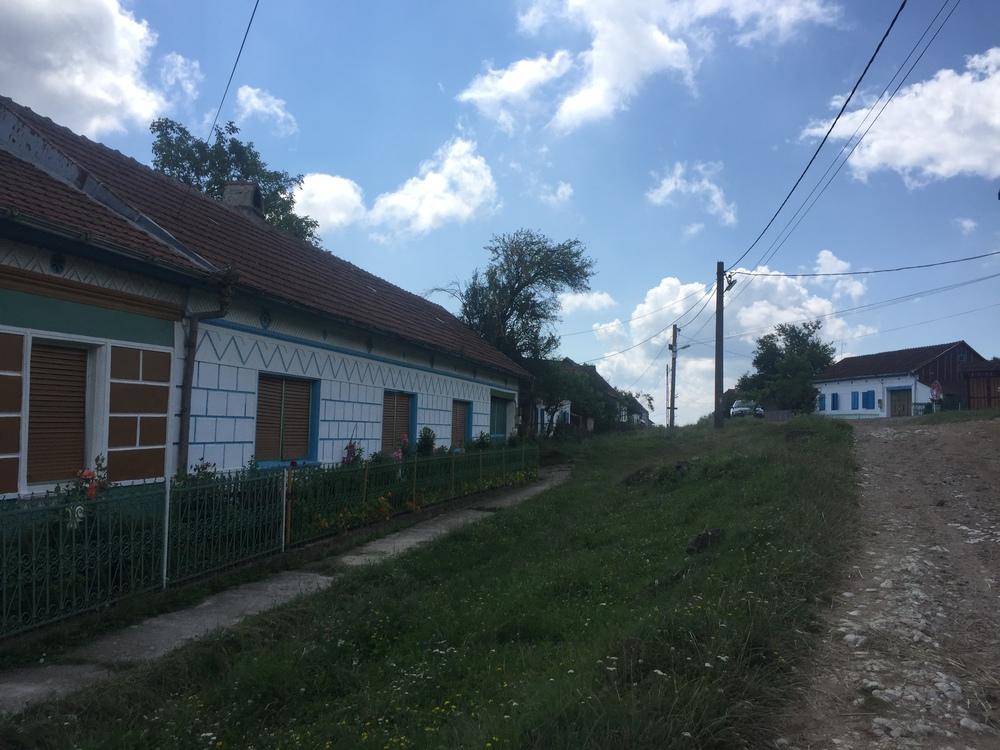 Walking through a unique Czech/Romanian village.