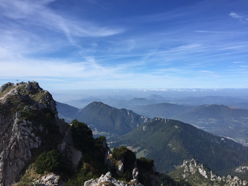 Hiking the Malá Fatra.