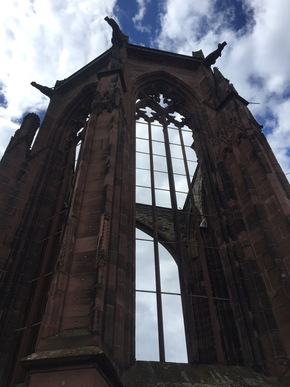 The ruins of a cathedral in Bacharach.