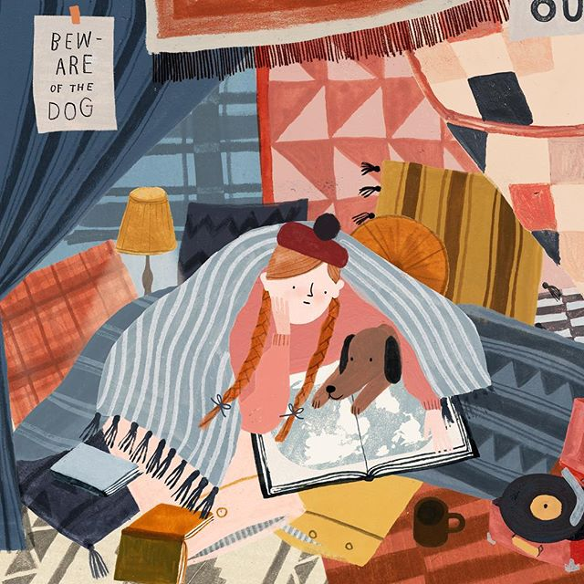 Finishing off some new things for #BCBF18 wishing I had a puppy and a raspberry beret 📖