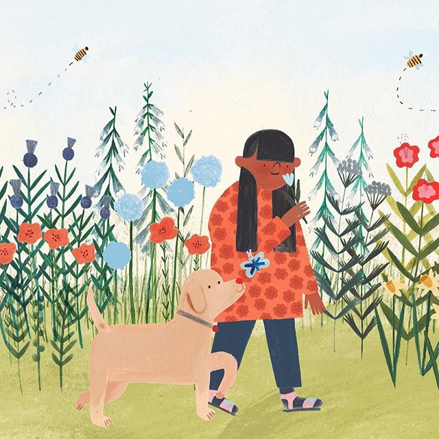 Here's a sneak peek of an exciting secret project I'm working on with the lovely @jackmanholly , @nosycrow and The National Trust that will be publishing later next year 🌼🌼🌼🌼