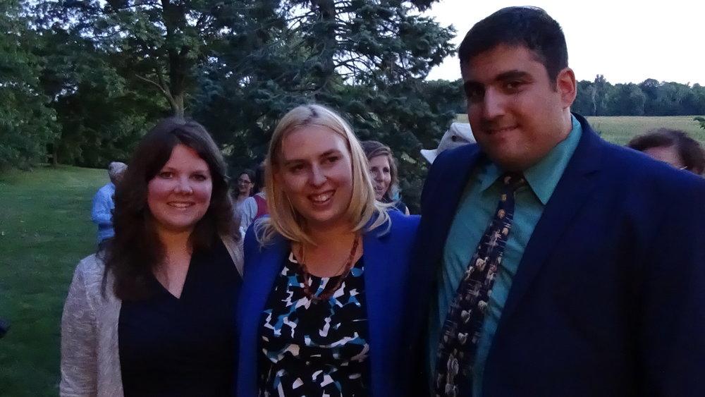 (L-R) Sarah Walters, Jenna and Gil Lewinsky