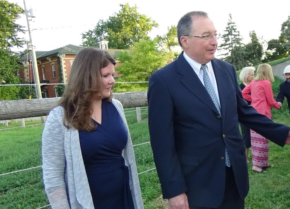 (L-R) Sarah Walters, Ambassador Barak