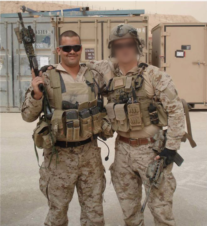 Williams (L) in Iraq(Photo Courtesy of Chad Williams)