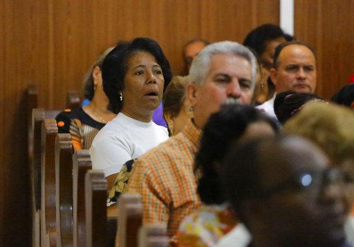 Sunday worship in Havana, Cuba