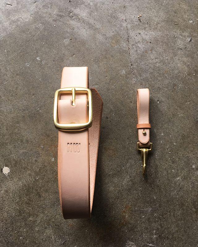 Yes I do commissions! Vegtan pants-holder-upper and matching key-chain-handy-keeper for friend @jaysoong #vegtan #belt #keyclip #tanner #custom
