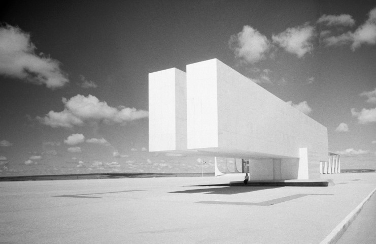 Lucien Hervé:  City Museum, Brasilia, Brazil,  Oscar Niemeyer architect, 1961.