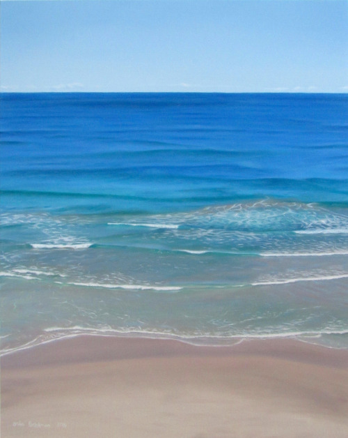 WHITES - BYRON BAY by Erika  Oil on Canvas  61cm x 91.5cm