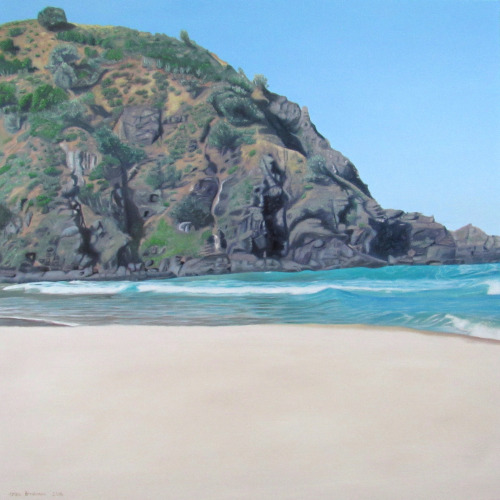 TALLOWS - BYRON BAY by Erika  Oil on Canvas  76cm x 76cm