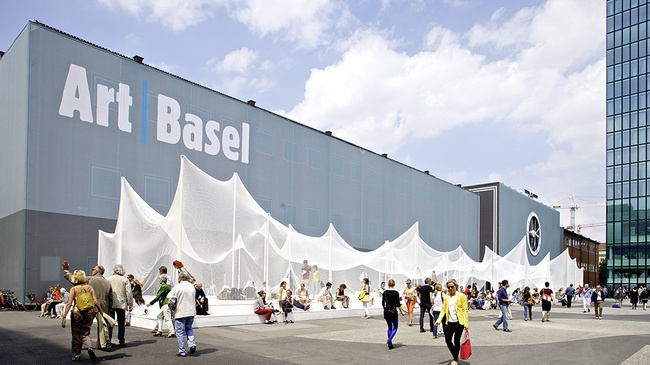 The Messeplatz at Art Basel in Basel, Switzerland.