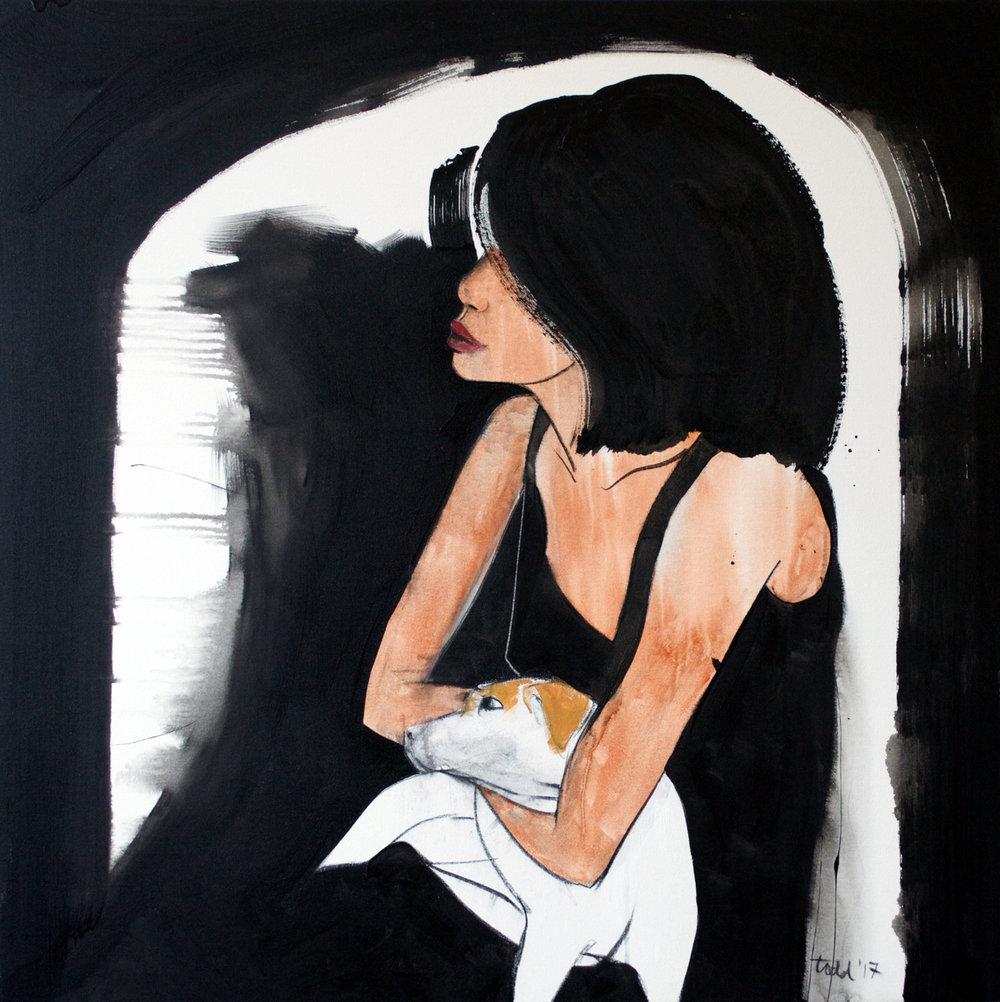Black Dress Number 4, 122x122cm, acrylic on canvas 2017.jpg