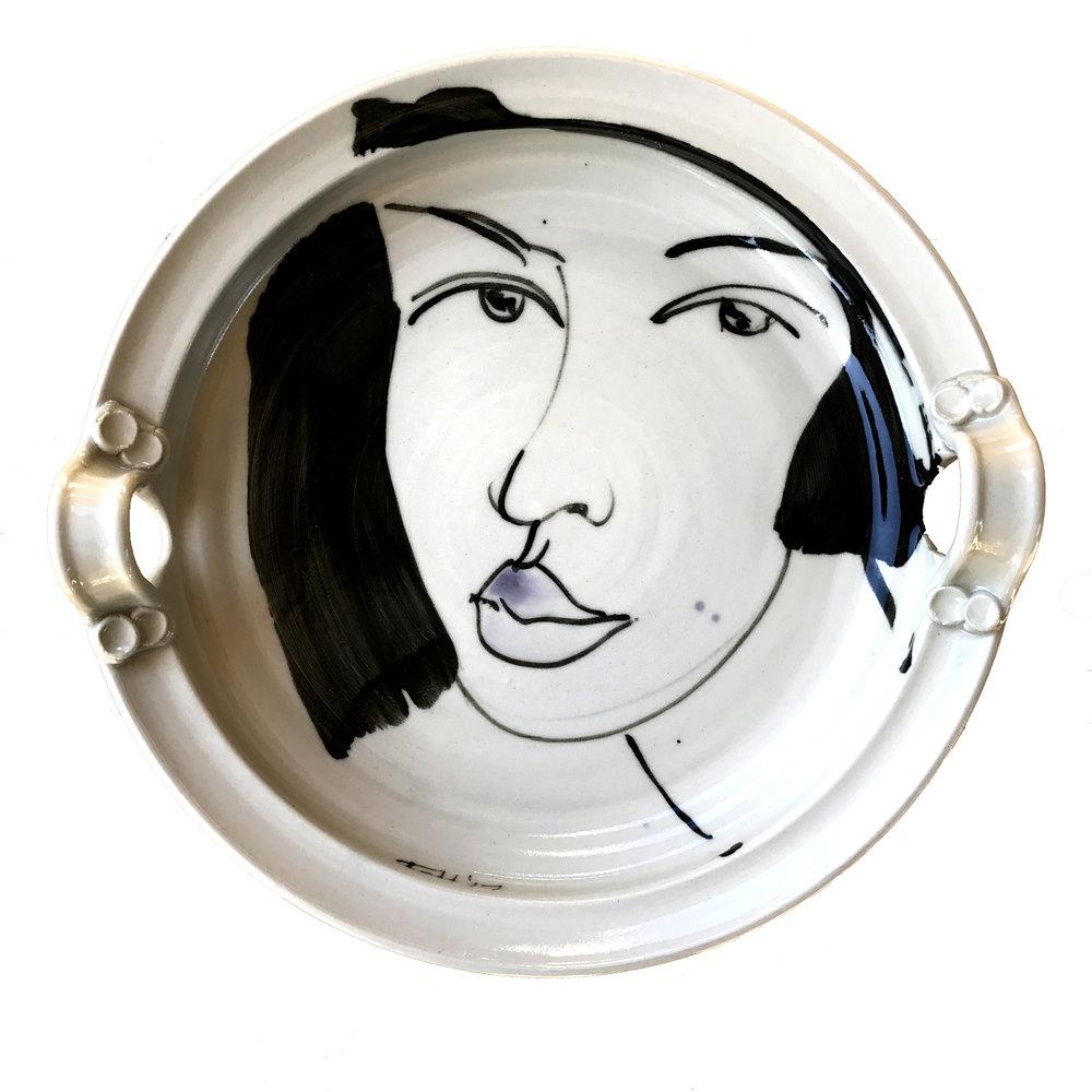 Portrait #3, 29.5x7.5cm, ceramic platter 2017.jpg