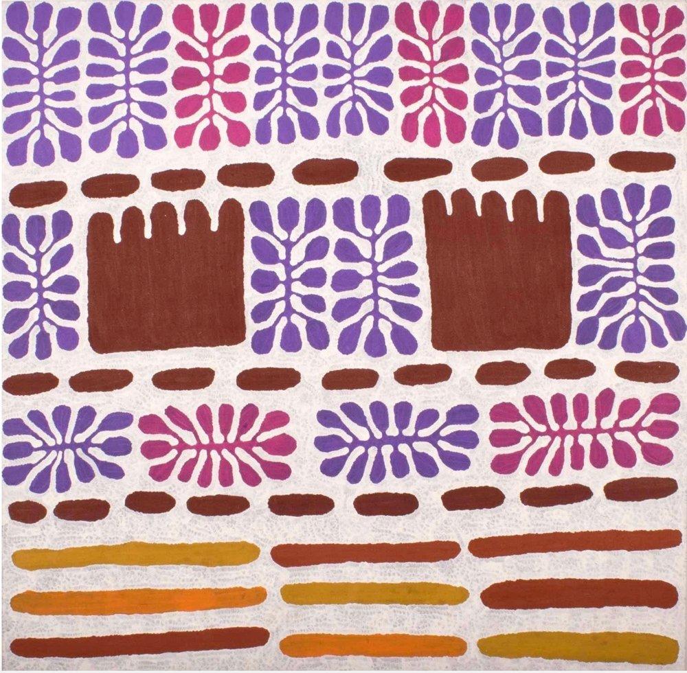 Mitjili Napurrula, Watiya Juta, acrylic on linen, 200 x 200cm