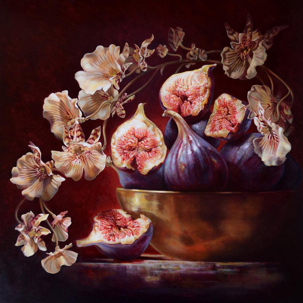 Fig Paradiso , 2015. Oil on linen, 122x122 cm.