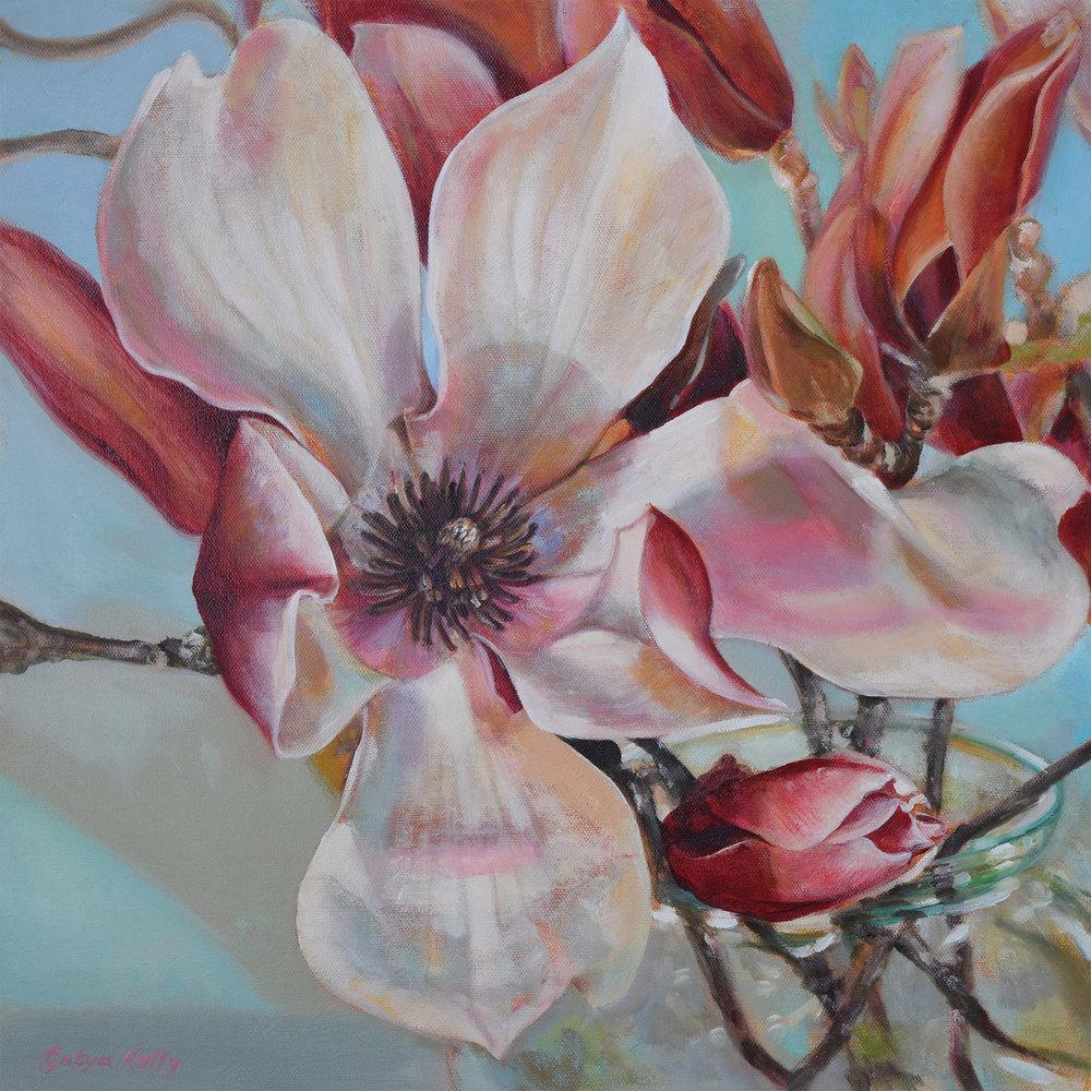 Maganolia Raphaella , 2015. Oil on canvas, 45x45cm.