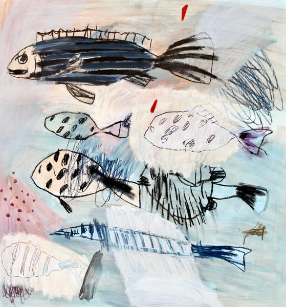 Vitor Dos Santos,  SMOOTH SEAS  - MIXED MEDIA ON BOARD - 80 x 75cm - $1,500