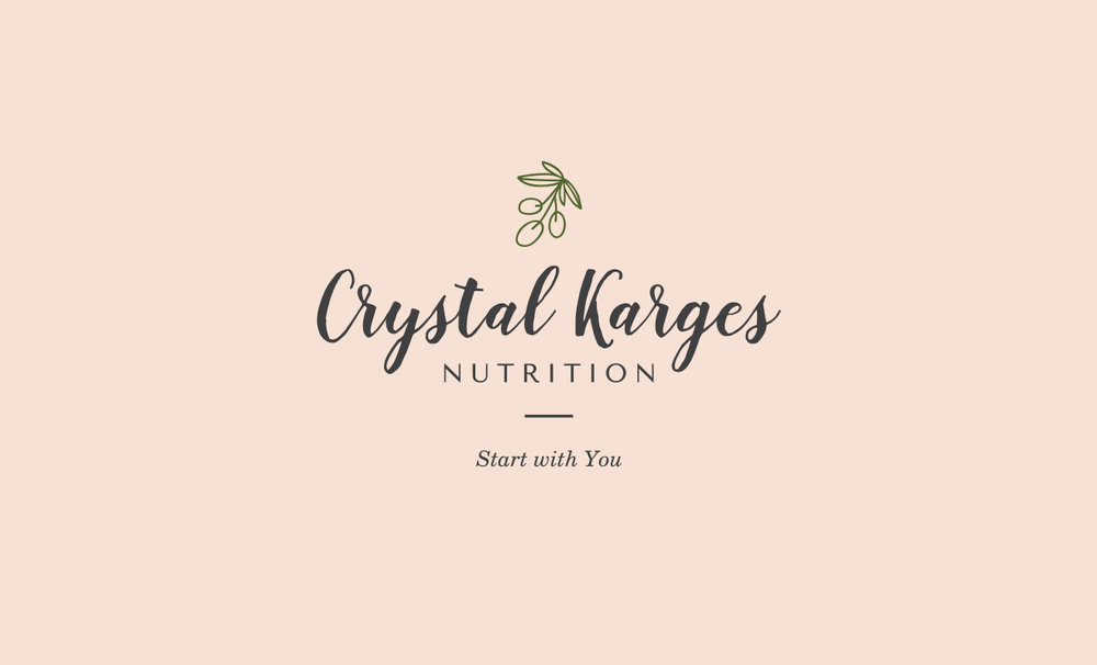 Crystal Karges Nutrition Logo Design by LR Creative