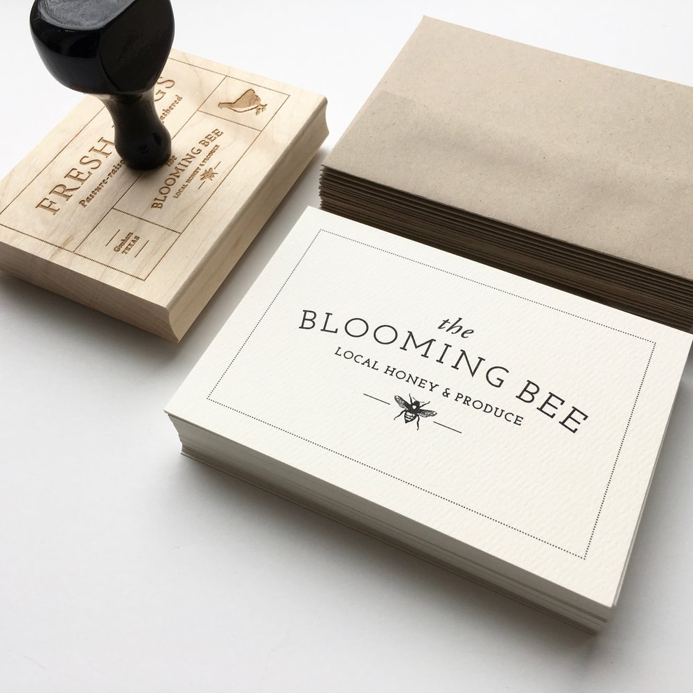 blooming bee branding