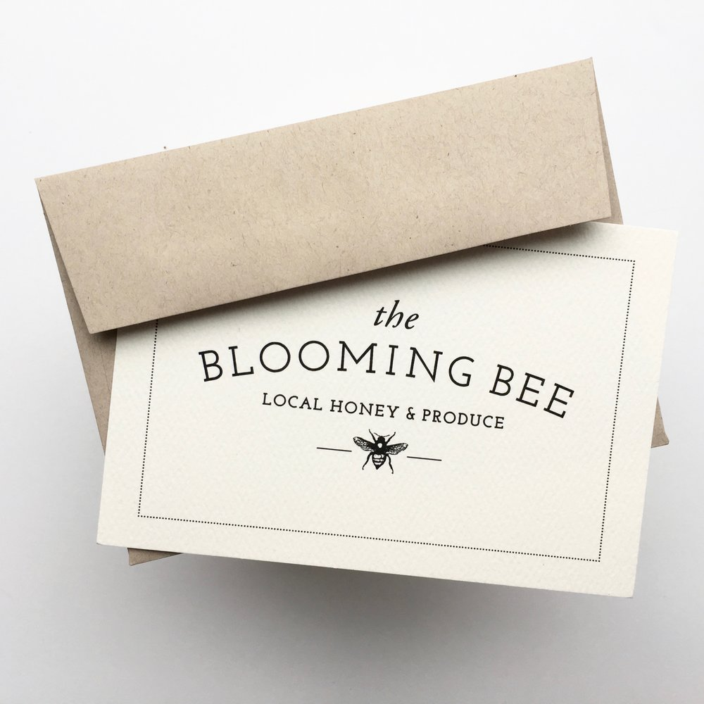 blooming bee stationery