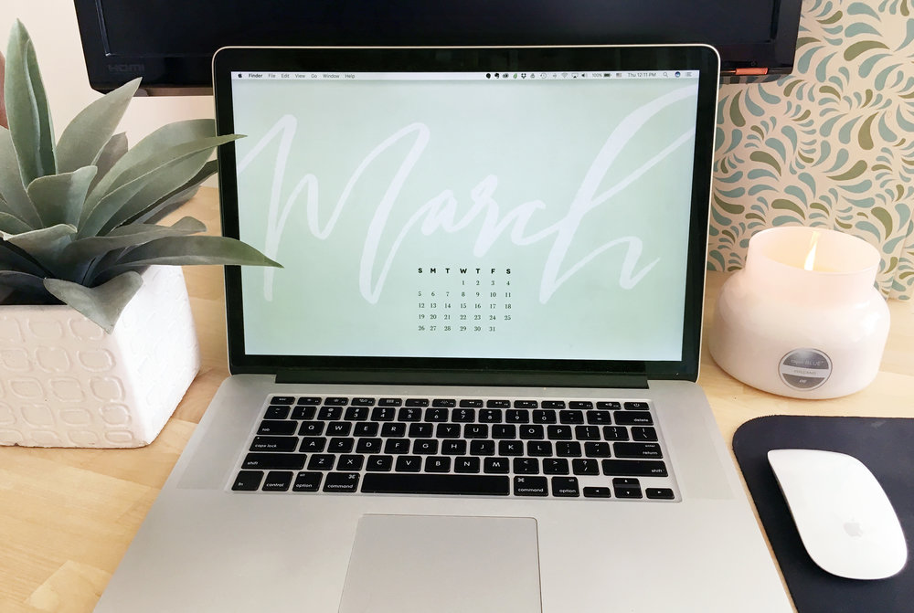 March desktop background display
