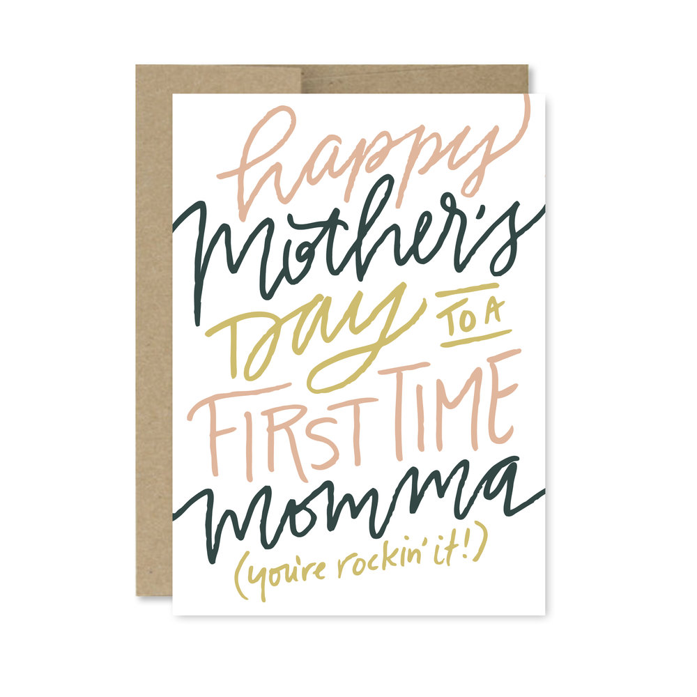 first time momma card