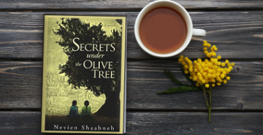 Secrets under the Olive Tree with tea