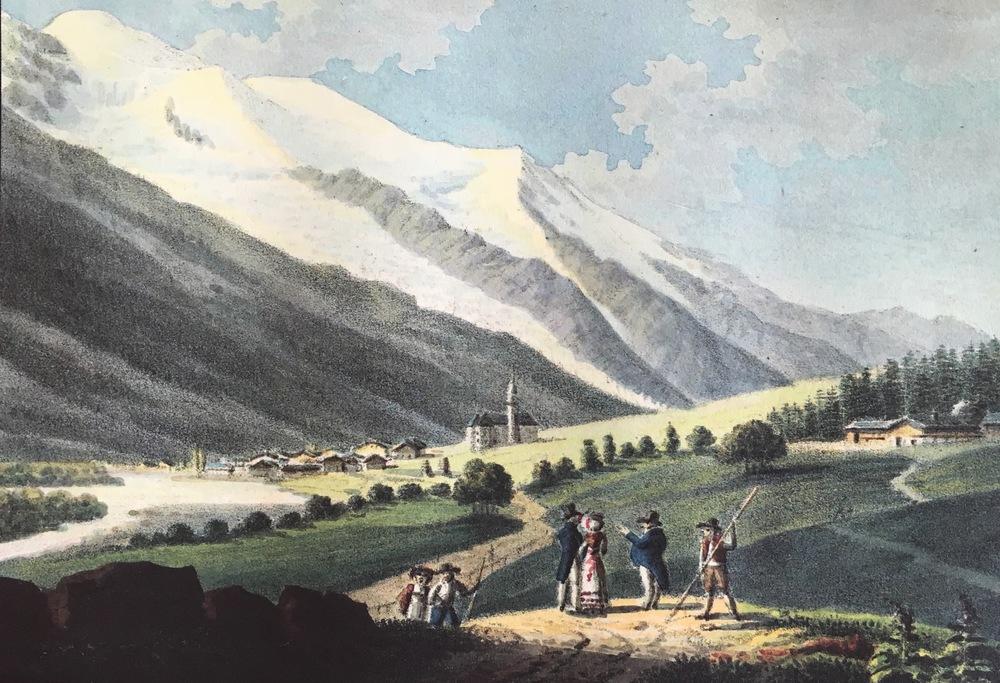 """The Priory"" Gabriel Charton, Chamonix, 1821"