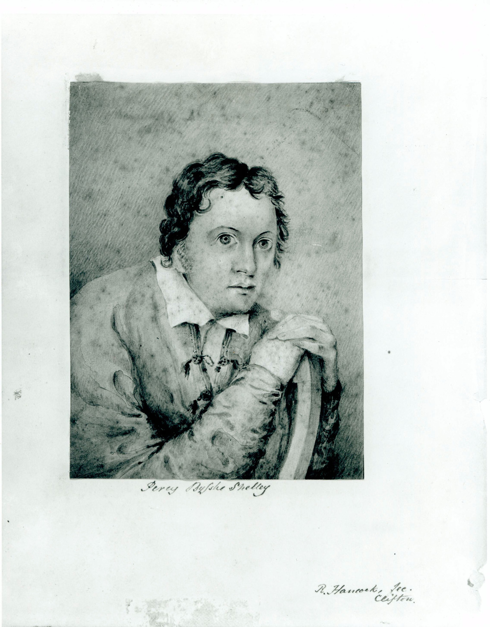 Sketch of Shelley drawn by Edward Ellerker Williams. 1821-22. In my view the only extant image that captures the man.