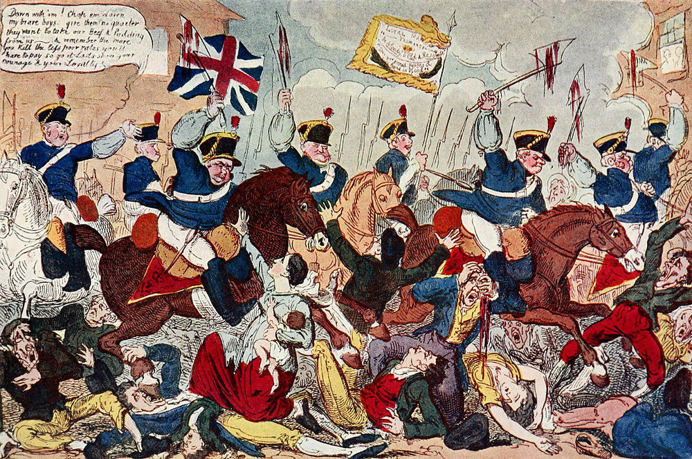The Massacre of Peterloo.  George Cruikshank/Wikimedia