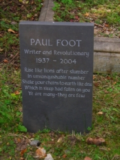 Foot's Grave in Highgate Cemetery.