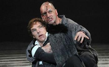 The National Theatre's stage production of  Frankenstein  premiered in 2011.