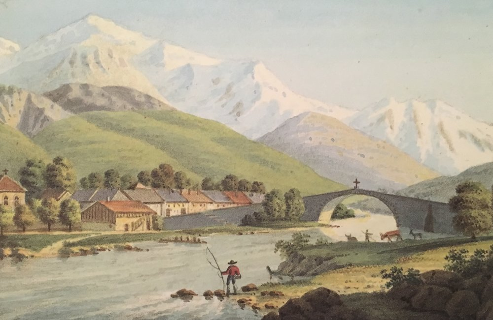 "Gabriel Charton, ""Saint-Martin"". From Souvenirs Pittoresques des Glaciers de Chamouny, 1821; reprinted by Tony Astil, 2015"
