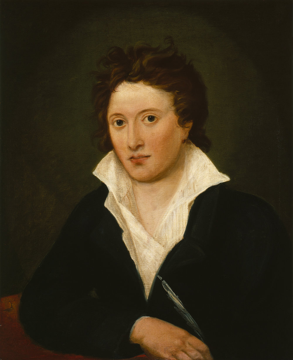 Percy Shelley by Amelia Curran. National Portrait Gallery.