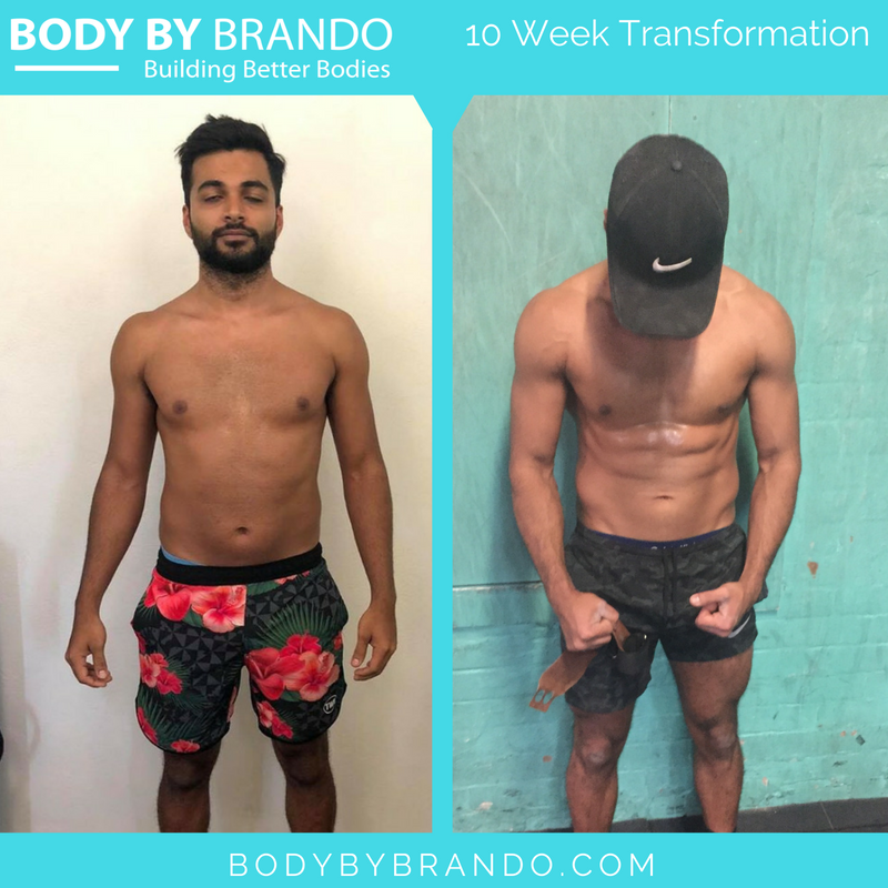 Body By Brando male client testimonial