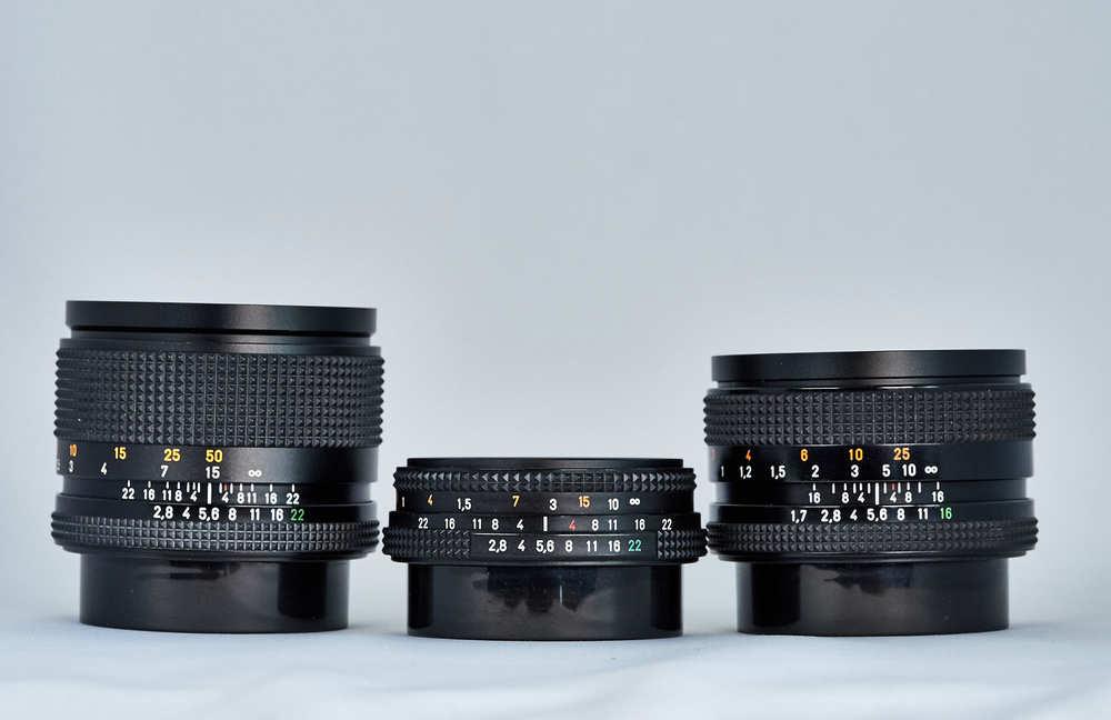 Zeiss and Yashica Lenses