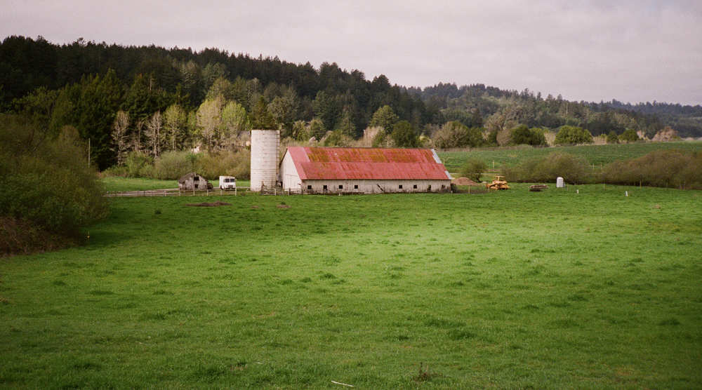 """Barn with Red Roof"" - Contax T2 with 38mm Sonnar lens. Fuji 400 Pro color negative film. Photo by Derrick Story."