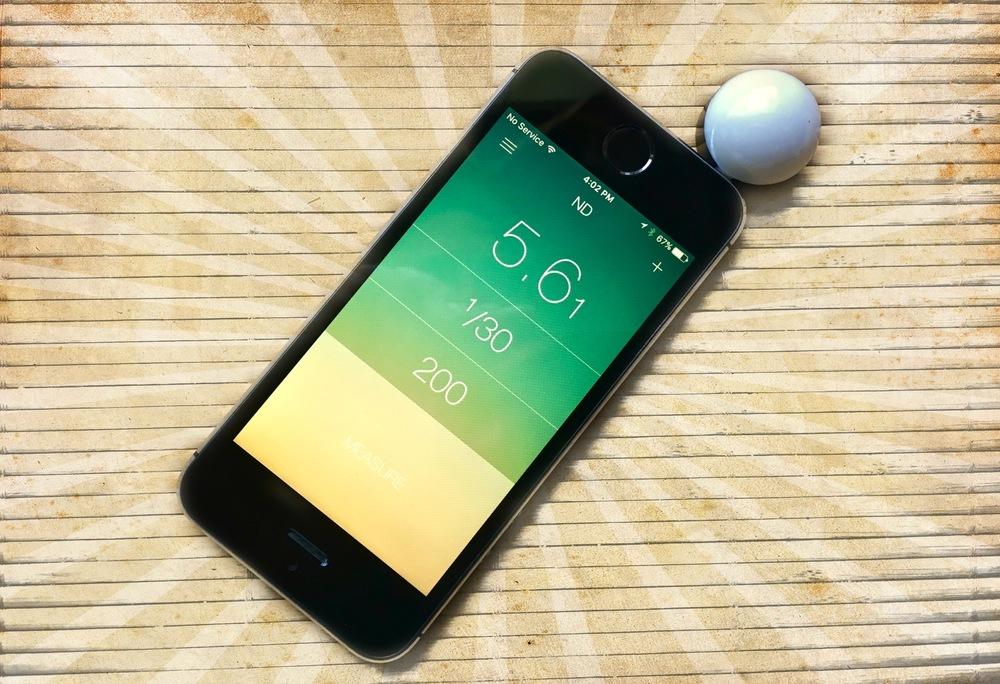 Lumu Photo running on an iPhone 5S