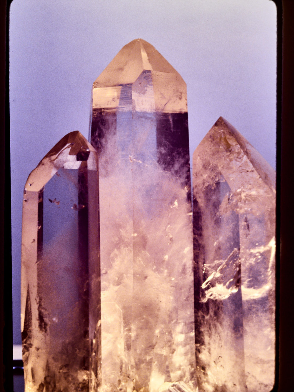 Quartz Crystals - Recorded on Ektachrome 100, 1985. Photo by Derrick Story.