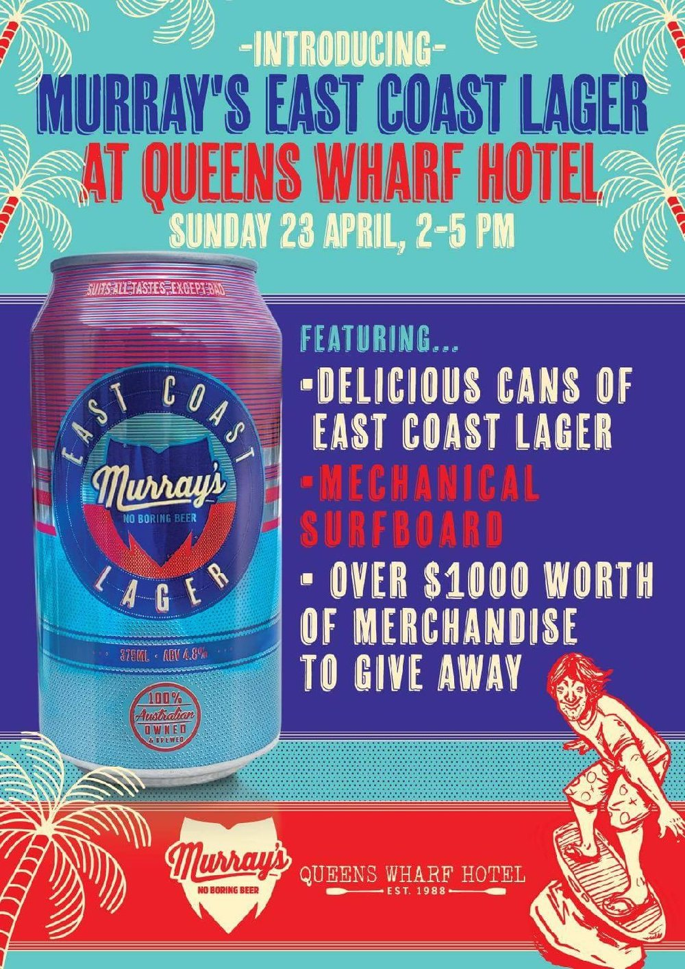 murrays queens wharf hotel east coast lager